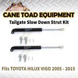 2xTAILGATE STRUT KIT Fits TOYOTA HILUX VIGO 2005 - 2015 REAR GAS SLOW DOWN STRUT DAMPER