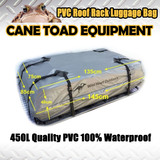 NEW ROOF TOP RACK LUGGAGE BAG PVC 100% Waterproof 450L Cargo Travel UV pod 4WD