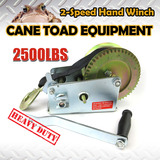 2-Speed Strap Hand Winch 2500BLS/1136kgs Heavy Duty Boat Trailer  4WD