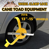"13""-15""Wheel Clamp Lock Heavy Duty Anti-Theft Safety Trailer Auto Vehicle Car"
