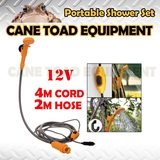 12V DC Portable Shower Set Water Pump Travel Trip Camping Caravan