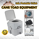 20L Portable Toilet Piston Pump Potty W Carry Bag Outdoor Camping Caravan Camp Boating