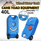 40L Portable Wheel Water Tank Camping Caravan Waste Transport Storage Motorhome