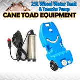 Portable 25L Wheel Water Tank&Tranfer Pump Camping Storage Caravan Motorhome Waste Transport