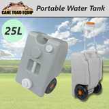 25L Water Tank Portable Wheeled Grey Camping Caravan Storage Motorhome Waste Transport Gray