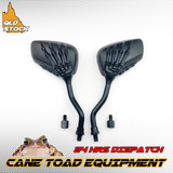 8mm&10mm Motorcycle Black Skull Claw Rearview Mirrors Kawasaki Suzuki Honda