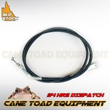 Go Kart Brake Safety Cable 145cm Long with Clevis For Solid Brake Rod Backup