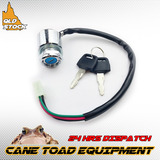 4 Wire Pin Ignition Key Switch Go Kart ATV Quad Dirt Bike Scooter