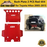 3mm Red 4X4 Bash Plate Front Sump Guard for Toyota Hilux 2005-2015 N70 Underbody Protection