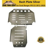 2PCS 3mm Silver Bash Plate Front Sump Guard for Ford Ranger PX 1 2 3 2012-2020