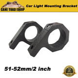 Bullbar Mounting Bracket Clamp For LED Light Bar Antenna HID ARB 51-52mm 2 inch