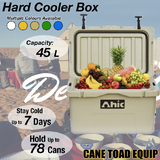 45L Hard Cooler Ice Box Chilly Bin Esky Camping Picnic Fishing 2in1 Thermal Container