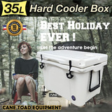 35L Hard Cooler Ice Box Chilly Bin BF35 Camping Picnic Fishing 2in1 Thermal Container