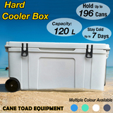 120L Hard Cooler On Wheel Ice Box Chilly Bin Camping Picnic Fishing 2in1 Thermal Container