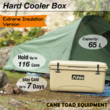 65L Hard Cooler Ice Box Esky Extre Thick Wall Chilly Bin Camping Picnic Fishing 2in1 Thermal Container