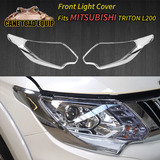 Head Light Lamps Chrome Cover Trim Fit Mitsubishi Triton L200 MQ 2015-2018