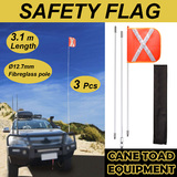 Recovery Sand Flag Safety Flag 3m  4WD Towing Offroad Touring, with quick connector base