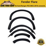 Fender Flare Kit Slim Matte Black Guard Sensor Hole Fits Ford Ranger PX3 MK3 2018-2021
