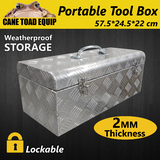 Tool Box Portable Mechanic Tool Storage Aluminium Trailer Heavy Duty