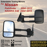 Pair Extendable Towing Mirrors Fits Nissan Pathfinder 04~13; Navara 04~15