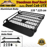 Tradesman Roof Rack for Hilux Ranger Triton Navara Dmax Aluminium Powder Coated Dual Cab UTE 4wd Luggage Basket Carrier