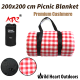 200X200cm Large Picnic Blanket Premium Cashmere RED Rug Waterproof Mat Outdoor Camping