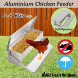 Chicken Feeder 4-7KG Automatic Aluminium Chook Treadle Self Opening Poultry Rat-proof