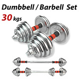 Dumbbell Set Weight Dumbbells Plates Home Gym Fitness Exercise 30KG