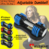 Adjustable Dumbbell Weight Set Home Gym Fitness Power Exercise Equipment