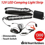 1.3M LED CAMPING LIGHT 12V 5050 SMD Dimmer CARAVAN BOAT WATERPROOF BAR STRIP
