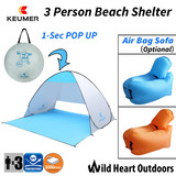 KEUMER Beach Tent Sun Shelter Portable POP-UP Shade Outdoor Camping