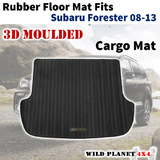 Rubber Cargo Trunk Mat Fits Subaru Forester 08-13 Floor Mat 3D Moulded