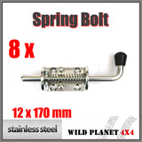 8XSTAINLESS STEEL SPRING BOLT LATCH CATCH TRUCK UTE TAIL GATE TRAILER FLOAT RAILING