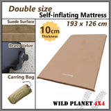 10cm SELF INFLATING MATTRESS Double Size Sleeping mat Thick Suede Camping