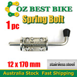 1XSPRING BOLT STAINLESS STEEL LATCH CATCH TRUCK UTE TAIL GATE TRAILER FLOAT RAILING