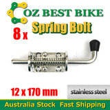 8XSPRING BOLT STAINLESS STEEL LATCH CATCH TRUCK UTE TAIL GATE TRAILER FLOAT RAILING