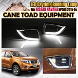 LED DRL Fits Nissan NAVARA NP300 2015-ON Daytime Running Light White DRL