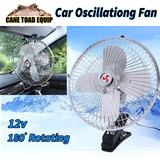 12V Oscillating Car Cooler Portable Fan 10 Inch with Clip Switch Outdoor Camping Vehicle Van Truck