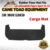 3D Rubber Cargo Trunk Mat Fits Mitsubishi Pajero Sports 15-onwards Floor Mat Heavy Duty All Weather