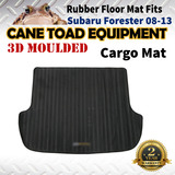 3D Rubber Cargo Trunk Mat Fits Subaru Forester 08-13 Floor Mat Heavy Duty All Weather