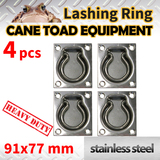 4xLASHING RING Stainless Steel TIE DOWN POINT UTE TRAILER ANCHOR
