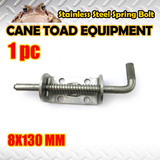 1X STAINLESS STEEL SPRING BOLT LATCH CATCH TRUCK UTE TAIL GATE TRAILER FLOAT RAILING