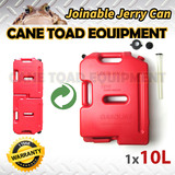10L Joinable Jerry Can Fuel Container Red Spare Container Heavy Duty