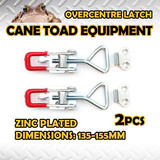 2XLARGE OVERCENTRE LATCH ZINC PLATED TOGGLE FASTENER LOCK TRAILER TRUCK UTE 4WD