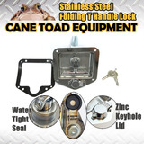 Stainless Steel Folding T Handle Lock Tool box Truck Trailer Camp Zinc Cap