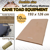 SELF INFLATING MATTRESS 10cm Thick Suede Sleeping mat Double Size Camping