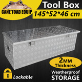 LARGE Tool Box Aluminium Tool Storage w Lock Bar UTE Trailer Truck Heavy Duty  Vehicle Commercial Utility