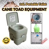 20L Portable Toilet Outdoor Camping Potty w Sprayer Carry Bag Caravan Camping